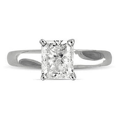2.01 ct. Radiant Diamond Solitaire Ring (G, VS2)