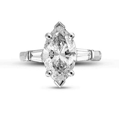 2.32 ct. t.w. Marquise Diamond Ring (E, SI1)
