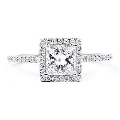 1.79 ct. t.w. Premier Diamond Collection Princess & Pave Diamond Ring (G, VS1)