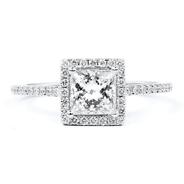 1.79 ct. t.w. Premier Diamond Collection Princess & Pave Diamond Ring (G, VS1)