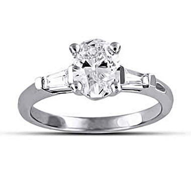 1.22 ct. t.w. Premier Diamond Collection Oval and Baguette Diamond Ring (D, SI2)