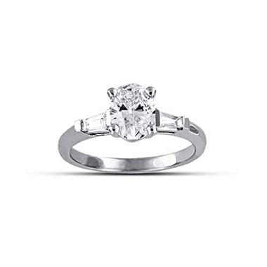 1.22 ct. t.w. Oval/Baguette Diamond Ring (E, SI2)