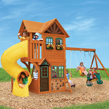 Boulder Station Cedar Summit Play Set Sam S Club