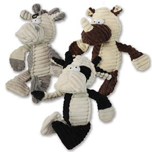 Happy Tails Plush Pet Toys, Doodles, 3 Pk.
