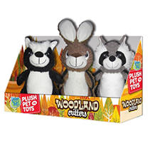 Happy Tails Plush Pet Toys, Woodland Critters (3 pk.)