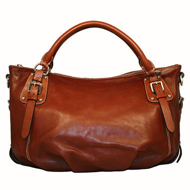 Isabella Adams Rebecca Leather Satchel - Brown