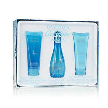 Davidoff Cool Water Womens 3 Piece Gift Set
