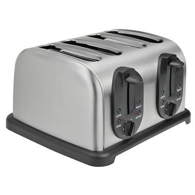 Kalorik Stainless Steel 4-Slice Toaster
