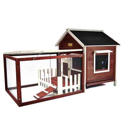 Advantek Rabbit Hutch - White Picket Fence