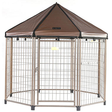 "Advantek's ""Low Profile"" Pet Gazebo and Cover"