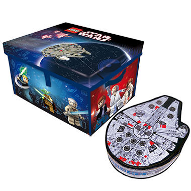 LEGO Star Wars ZipBin ToyBox & LEGO Star Wars ZipBin Millennium Falcon Case Combo