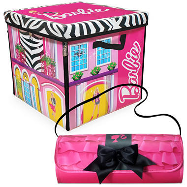 Barbie ZipBin Dream House Toybox & Barbie Clutch & Closet Combo