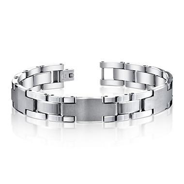 Tungsten 3 ID Plate Gent's Bracelet