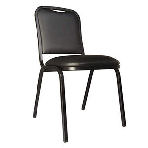 Vinyl Stack Chair, Black