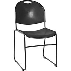U-Loft Stack Chair, Black - 6 pack