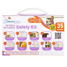 Dreambaby Adhesive Household Safety Kit, No Tools & No Screws (35 pcs.)