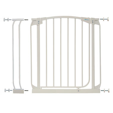 Dream Baby Swing Closed Security Gate Combo - White