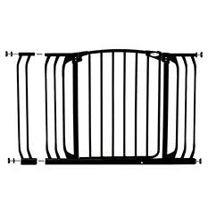 Dreambaby Chelsea Xtra Hallway Auto Close Security Gate Combo, Black