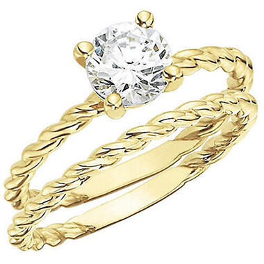 .50 ct. Diamond Solitaire Twisting Band Bridal Set (H-I, I1)