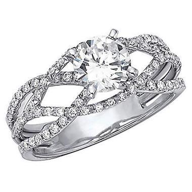.90 ct. t.w. Criss-Cross Diamond Engagement Ring (H-I, I1)