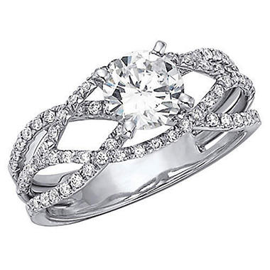 .90 ct. t.w. Criss-Cross Diamond Engagement Ring (H-I, I1)