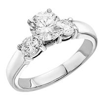 Click here for 1CT TW  14KT Three Stone Engagement Ring 5 prices