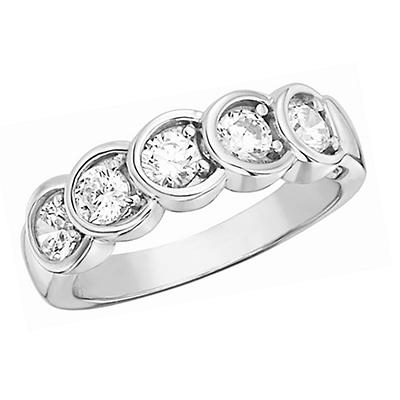 0.50 CT.T.W. Diamond Anniversary Band in 14K White Gold (H-I, I1)