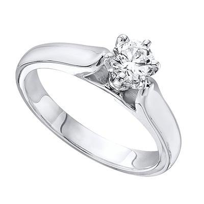 0.75 CT. Diamond Solitaire Engagement Ring in Platinum (H-I, I1)