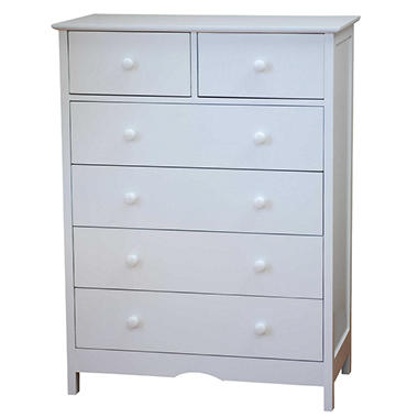 AFG Molly 6 Drawer Dresser - White