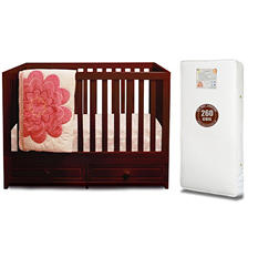 AFG Marilyn 3-in-1 Convertible Crib with Coil Mattress (Choose Your Color)