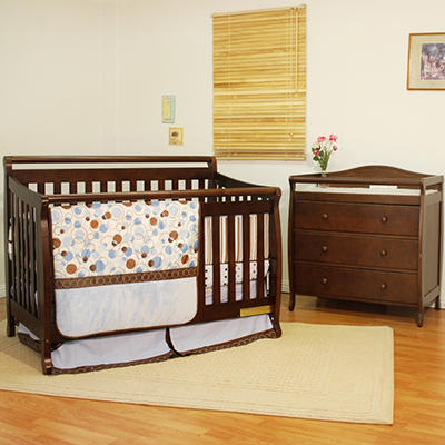 AFG Amy 3-in-1 Crib and Grace 3 Drawer Changer - Espresso