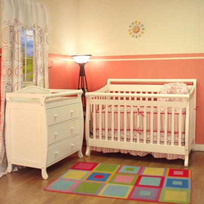 AFG Amy 3-in-1 Crib and Grace 3 Drawer Changer - White