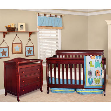 AFG Alice 3-in-1 Crib and Grace 3 Drawer Changer - Cherry