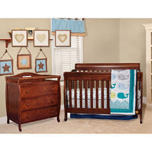 AFG Alice 3-in-1 Crib and Grace 3 Drawer Changer - Espresso