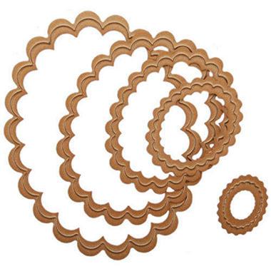 Spellbinders Nestabilities Dies-Scallop Oval Sm