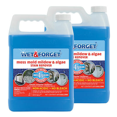 Wet & Forget Moss, Mold, Mildew, & Algae Stain Remover - .75 gal - 2 pk.