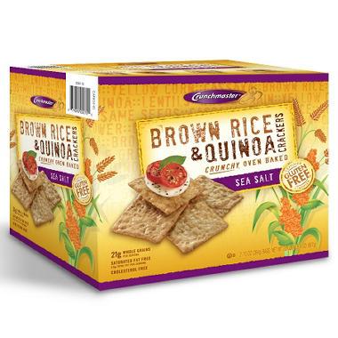 crunchmaster brown rice amp quinoa cracker 20 oz   sam s club