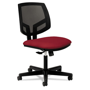 HON - Volt Series Task Chair, Black Mesh Back - Crimson Seat