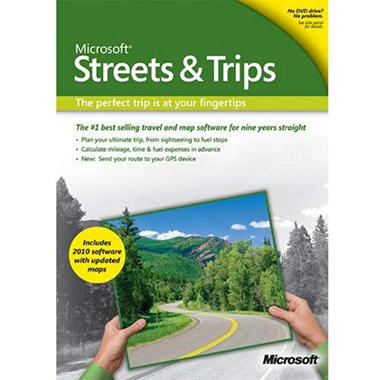 Microsoft Streets & Trips 2010 Mapping Software