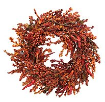 26 Chili Pepper and Berry Wreath Sam s Club from samsclub.com