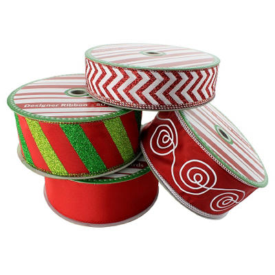 50 Yard Wired Designer Ribbon - Assorted Colors and Styles