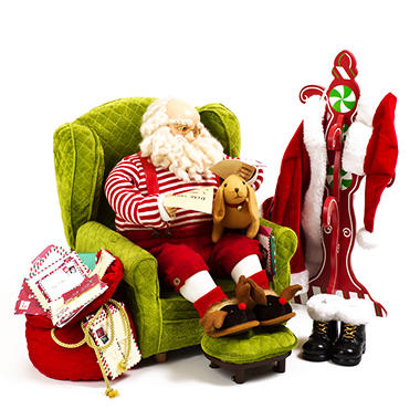 Fabric Santa Set - Green Chair