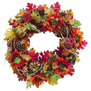 "26"" Sunflower Harvest Wreath - Original Price $29.98 Save $10.17"