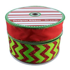 50 Yard Wired Designer Ribbon in a Pack of 2 - Choose your Assortment