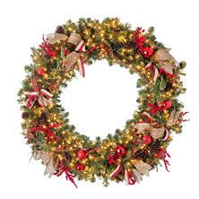 "Pre-Lit Decorated Holiday Wreath (60"")"