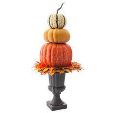 40' Harvest Urn Pumpkin Topiary Floor Piece
