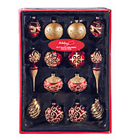 Member's Mark Glass Ornament Collection, Classic & Luxe Christmas (14 ct.)