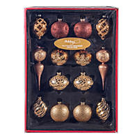 Member's Mark Glass Ornament Collection, Mixed Metallics (14 ct.)