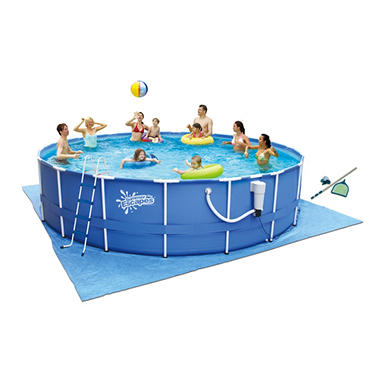 "17' x 48"" Metal Frame Pool"