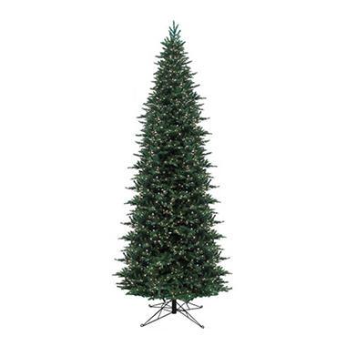 15' Pre-Lit Angle Fir Slim Christmas Tree